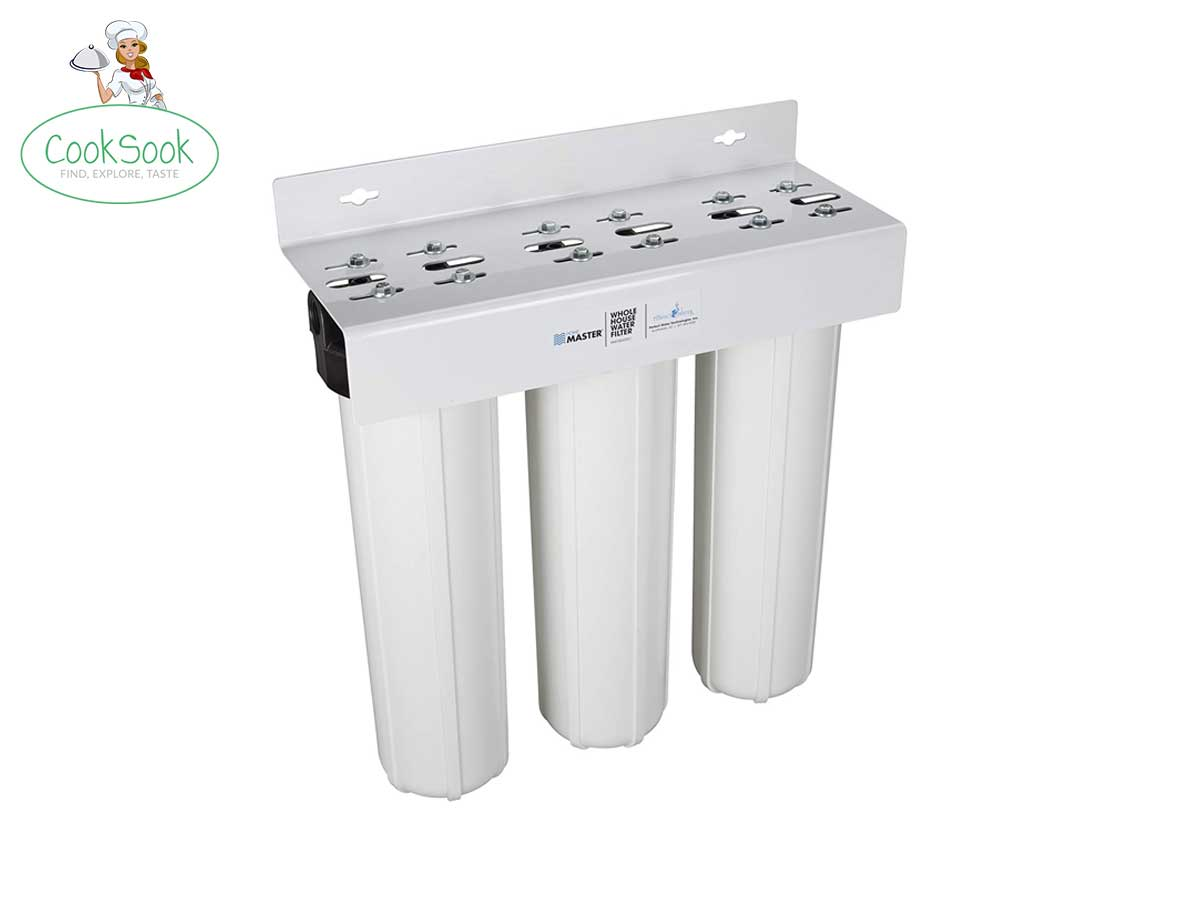 Home master whole house three-stage water filtration system