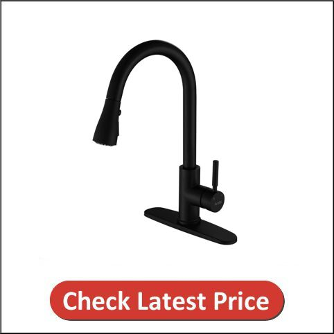 Arofa A02BY Contemporary Matte Black Stainless Steel Kitchen Faucet